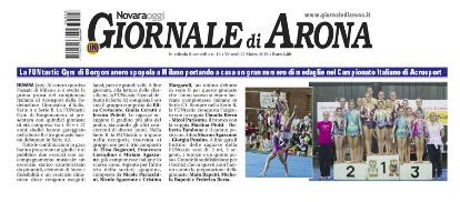 FUNtastic Gym 06, Giornale di Arona, Prima Gara Campionato Acrosport FGI Serie A - B