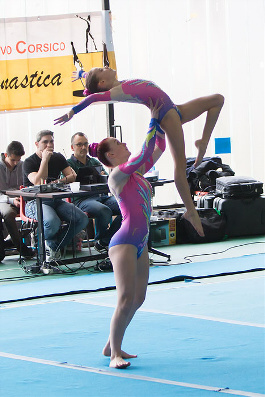 FUNtastic Gym 06, Campionato Acrosport Serie A e B, Prima Gara 2015, Roberta Tambone, Martina Piotti