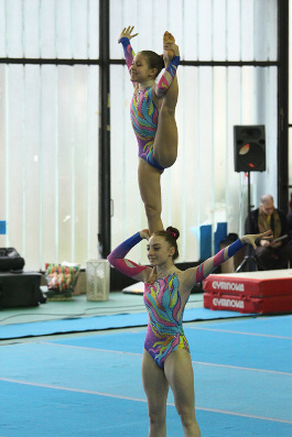 FUNtastic Gym 06, Campionato Acrosport Serie A e B, Prima Gara 2015, Giorgia Pessina, Sharon Agazzone