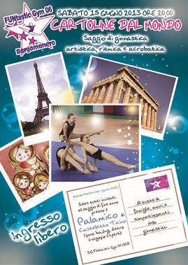 FUNtastic Gym 06 di Borgomanero, Saggio 2013, Cartoline dal Mondo, Acrosport