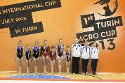 FUNtastic Gym 06, Turin Acro Cup, Miriam Agazzone, Francesca Corradino, Elisa Bagarotti, Sharon Agazzone, Giorgia Pessina, Micol Parisotto, Claudia Berra, Mara Rapetti, Eleonora Guzzo, Marta Cavagna